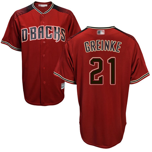 Diamondbacks #21 Zack Greinke Sedona Red Alternate Stitched Youth Baseball Jersey