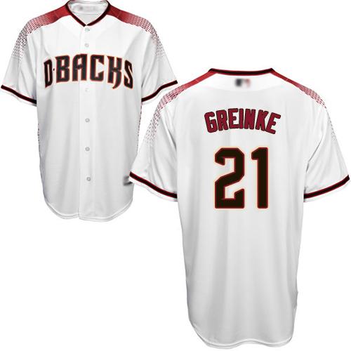 Diamondbacks #21 Zack Greinke White Crimson Home Stitched Youth Baseball Jersey