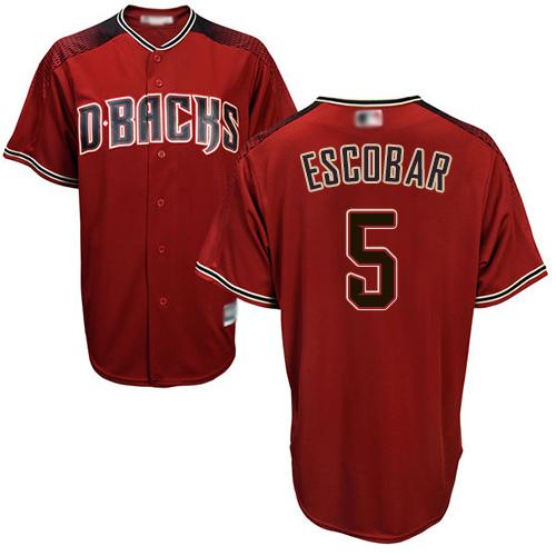 Diamondbacks #5 Eduardo Escobar Sedona Red Alternate Stitched Youth Baseball Jersey