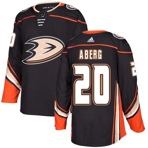 Ducks #20 Pontus Aberg Black Home Authentic Stitched Hockey Jersey