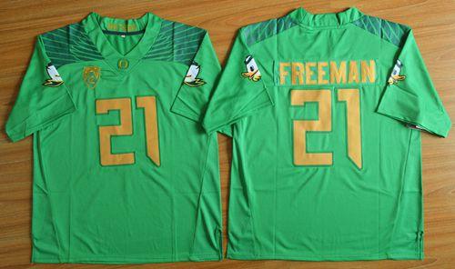 Ducks #21 Royce Freeman Green Limited Stitched NCAA Jersey