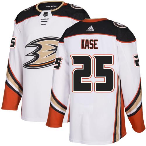 Ducks #25 Ondrej Kase White Road Authentic Stitched Hockey Jersey