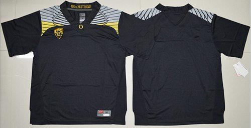 Ducks Blank Black Stitched NCAA Jersey