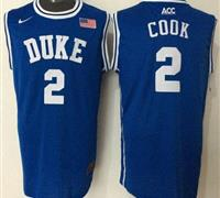 Duke Blue Devils #2 Quinn Cook Blue Basketball New Stitched NCAA Jersey