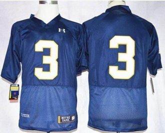 Fighting Irish #3 Joe Montana Navy Blue Shamrock Series Stitched NCAA Jersey