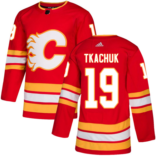 Flames #19 Matthew Tkachuk Red Alternate Authentic Stitched Hockey Jersey