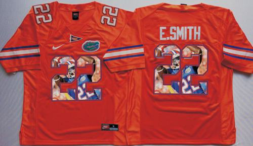 Gators #22 Emmitt Smith Orange Player Fashion Stitched NCAA Jersey