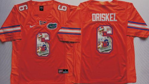 Gators #6 Jeff Driskel Orange Player Fashion Stitched NCAA Jersey