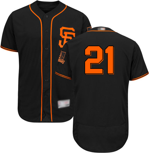 Giants #21 Stephen Vogt Black Flexbase Authentic Collection Alternate Stitched Baseball Jersey