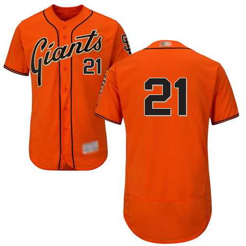 Giants #21 Stephen Vogt Orange Flexbase Authentic Collection Stitched Baseball Jersey