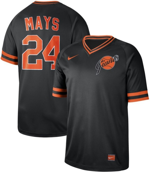Giants #24 Willie Mays Black Authentic Cooperstown Collection Stitched Baseball jerseys