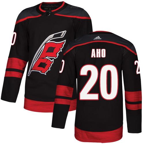Hurricanes #20 Sebastian Aho Black Alternate Authentic Stitched Hockey Jersey