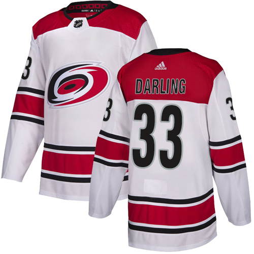 Hurricanes #33 Scott Darling White Road Authentic Stitched Hockey Jersey