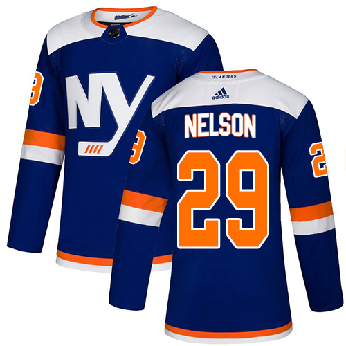 Islanders #29 Brock Nelson Blue Alternate Authentic Stitched Hockey Jersey