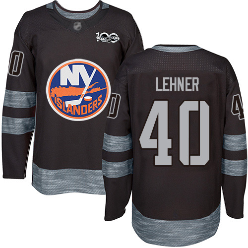 Islanders #40 Robin Lehner Black 1917-2017 100th Anniversary Stitched Hockey Jersey