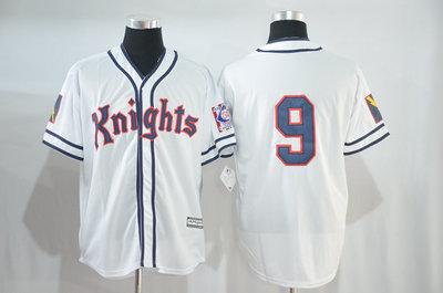 Knights #9 White Stitched Movie Baseball Jersey