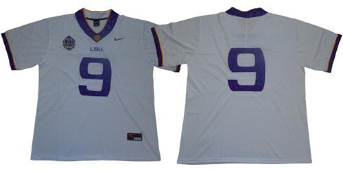 LSU Tigers #9 Joe Burrow White 125 Seasons Limited Stitched NCAA Jersey