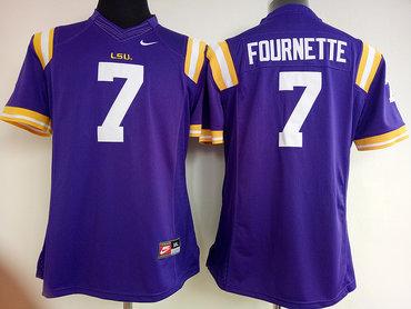 LSU Tigers 7 Leonard Fournette Purple College Football Jersey