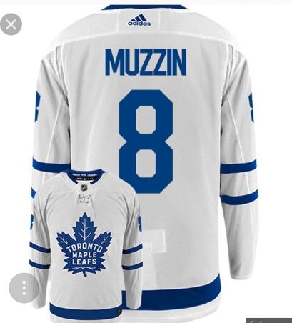 Maple Leafs #8 Jake Muzzin White Adidas Jersey