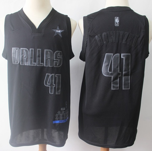 Mavericks #41 Dirk Nowitzki Black Basketball MVP Swingman Jersey