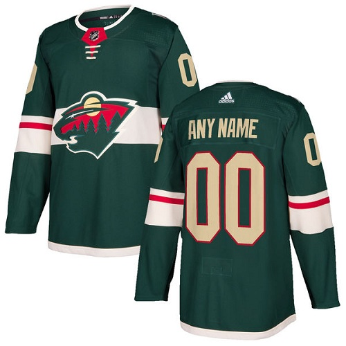 Men's Adidas Wild Personalized Authentic Green Home NHL Jersey