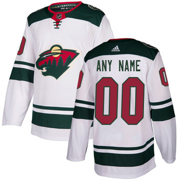 Men's Adidas Wild Personalized Authentic White Road NHL Jersey