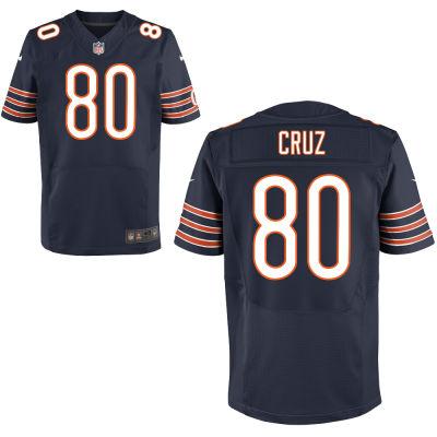 Wholesale Men's Chicago Bears #80 Victor cruz Nike Navy Blue Elite Jersey  hot sale