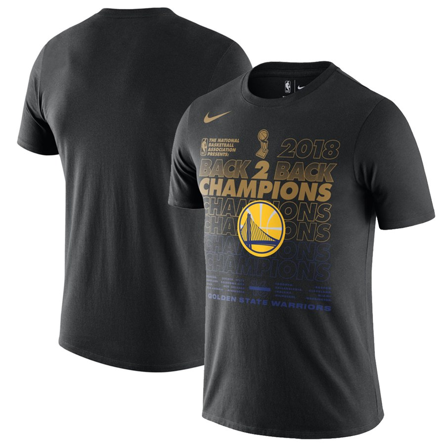 Men's Golden State Warriors Nike Black 2018 NBA Finals Champions Locker Room T-Shirt