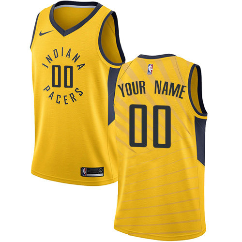Men's Nike Indiana Pacers Customized Authentic Gold NBA Statement Edition Jersey