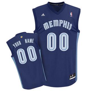Mens Memphis Grizzlies Custom dk blue Jersey