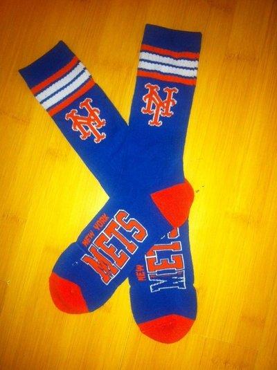 Mets Team Logo Blue Blue MLB Socks