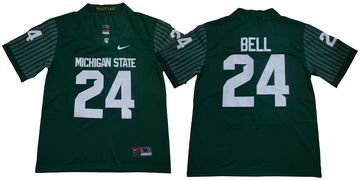 Michigan State Spartans 24 Le'Veon Bell Green Nike College Football Jersey