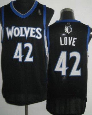 Minnesota Muskies 42 Kevin Love Black Revolution 30 NBA Jerseys
