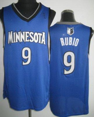 Minnesota Timberwolves 9 Ricky Rubio Blue Revolution 30 NBA Jerseys