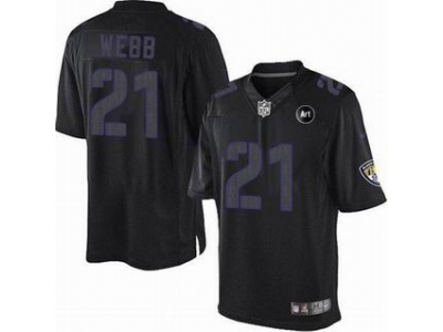 NEW Baltimore Ravens #21 webb black jerseys[Impact Limited Art Patch]