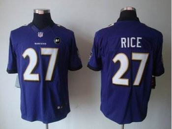 NEW Baltimore Ravens #27 ray rice purple jerseys(Limited Art Patch)