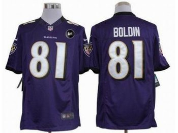 NEW Baltimore Ravens #81 Anquan Boldin Purple jerseys(Limited Art Patch)