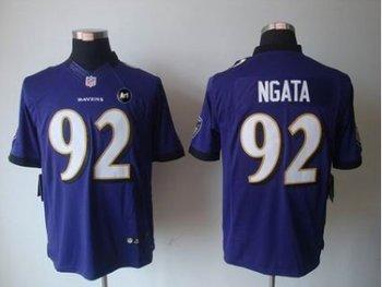 NEW Baltimore Ravens #92 Haloti Ngata Purple jerseys(Limited Art Patch)