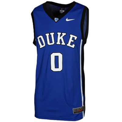 NEW Duke Blue Devils #0 Elite Replica Basketball Jersey - Duke Blue