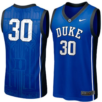 NEW Duke Blue Devils #30 Elite Aerographic Replica Basketball Jersey - Duke Blue