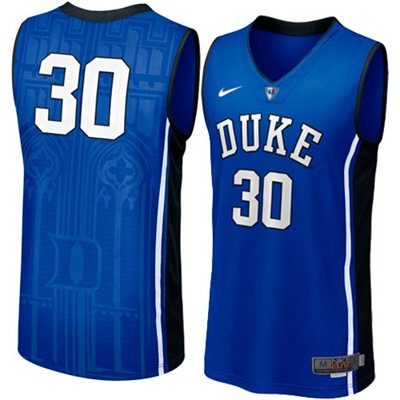 NEW Duke Blue Devils #30 Men's Swingman Aerographic Elite Basketball Jersey - Duke Blue