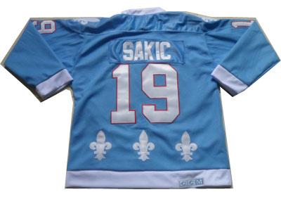 NHL Jerseys Quebec Nordiques #19 Sakic Lt.Blue Jerseys(CCM)