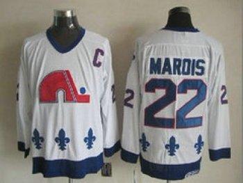 NHL Jerseys Quebec Nordiques #22 marois white(patch C)