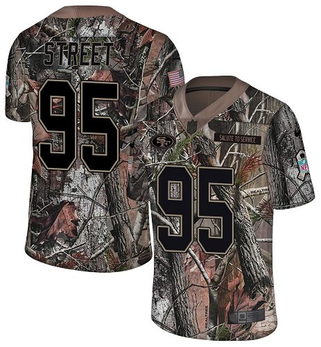 Nike 49ers #95 Kentavius Street Camo Men's Stitched NFL Limited Rush Realtree Jersey