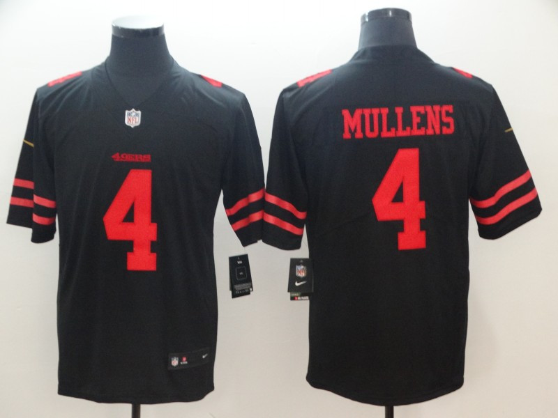 Nike 49ers 4 Nick Mullens Black Vapor Untouchable Limited Jersey