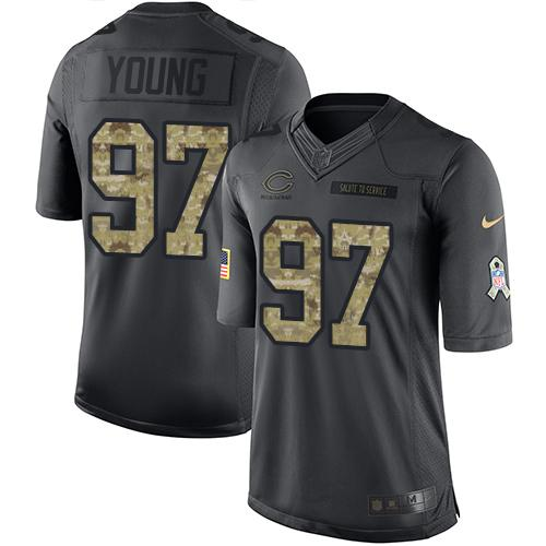Nike Bears #97 Willie Young Black Men's Stitched NFL Limited 2016 Salute to Service Jersey size XXL
