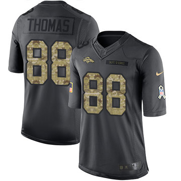Nike Broncos #88 Demaryius Thomas Black Men's Stitched NFL Limited 2016 Salute to Service Jersey Size M