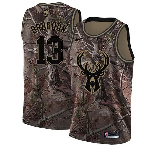 Nike Bucks #13 Malcolm Brogdon Camo Youth NBA Swingman Realtree Collection Jersey