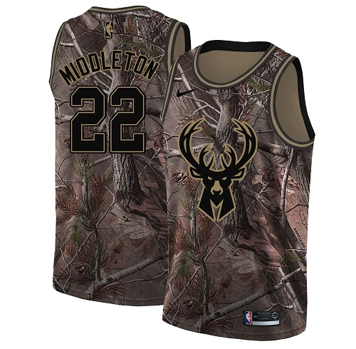Nike Bucks #22 Khris Middleton Camo Youth NBA Swingman Realtree Collection Jersey