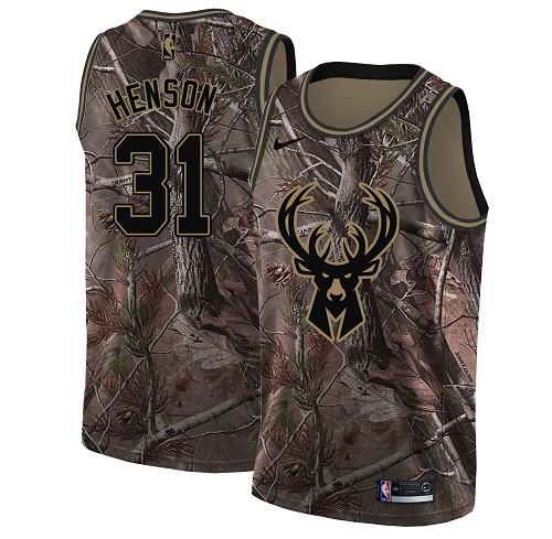 Nike Bucks #31 John Henson Camo Youth NBA Swingman Realtree Collection Jersey